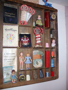 Printers drawers 1 by the vintage cottage, via Flickr