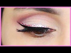 HOW TO APPLY GLITTER EYELINER! | Amena - YouTube