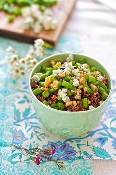 Green Beans with Toasted Walnuts and Quinoa Recipe | FamilyFreshCooking.com