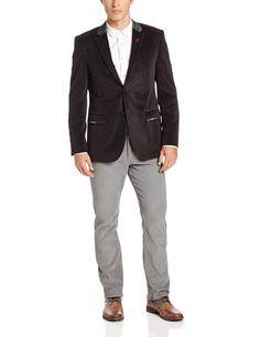 Calvin Klein Sportswear Men's Velvet Jacket, Black, X-Large