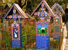 Cementerio alegre de Sapantza, Rumania.