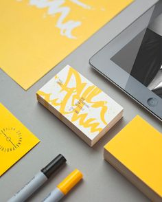 """Self promotion idea.  If you can't afford to print color - you can add a little of your own with markers - it can even become your """"signature"""" look."""