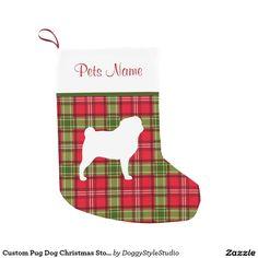 Custom Pug Dog Christmas Stocking Small Christmas Stocking