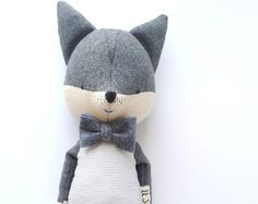 GUSTAV Fuchs. Bestellung. Stofftier. Öko Spielzeug. Kinder Zimmer dekorativ Fuchs. Geschenk für Kinder.