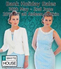Bank Holiday Sale from 30th may to 2nd June, 20% of Aideen Bodkin