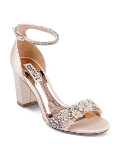 Badgley Mischka Women's Finesse Embellished Block Heel Sandals Shoes - Bloomingdale's Source by babaiebahareh women shoes Wedding Shoes Bride, Wedding Boots, Bride Shoes, Prom Shoes, Wedding Shoes Block Heel, Sandals Wedding, Wedding Garters, Gown Wedding, Bridal Gown