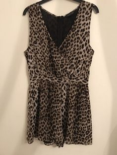52b6643ff784 Leopard print Playsuit Topshop Size 10  fashion  clothing  shoes   accessories  womensclothing