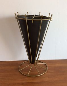 Mid Century Wire Umbrella Stand-Metal Plant by DecorYouWillAdore