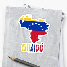 'Venezuela map flag - Guaido President' Sticker by CacaoDesigns Venezuela Flag, Presidents, Finding Yourself, Phone Cases, Map, Stickers, Logos, Country, Unique
