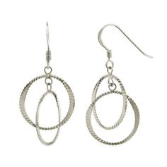 Sterling Silver Double Round Dangle Earrings Amazon Curated Collection. $12.00. Save 40% Off!
