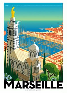 Get Inspired for a City Trip to Marseille - Take a walk in Le Panier, have a sip of pastis while looking out at the harbor, visit the new museum. There's lots to discover on a weekend city trip to Marseille. - MARSEILLE by Monsieur Zielenkiewicz #marseille #holiday #weekend #travelguide