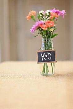 Fresh Flowers in Vintage Milk Bottles I Event Crush I #centerpiece #bridalshower