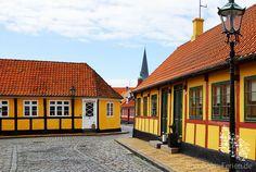 Fachwerkhäuser in der Altstadt von Rønne #ronne #roenne #bornholm #daenemark