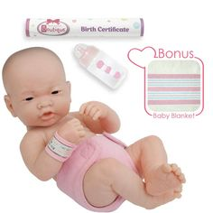 fb72d503218 JC Toys La Newborn 14 Anatomically Correct Real Girl Asian Baby Doll -