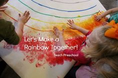 Whenever I can find an idea that our whole class can work on together in a successful way, I just love to put it into action! This handprint rainbow was perfect for everyone to join in! Before I share with you the details about our rainbow, I want you to know that we have been … Rainbow Activities, Craft Activities For Kids, Educational Activities, Learning Activities, Preschool Activities, Spring Activities, Rainbow Painting, Rainbow Art, Rainbow Theme