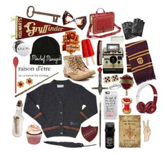 """""""Gryffindor Aesthetic"""" by stardustelixir ❤ liked on Polyvore featuring art, harrypotter, hogwarts and Gryffindor"""