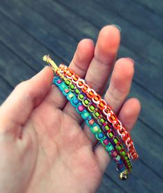 Quiet Lion Creations--square knot bracelets Send the kit to camp for down time