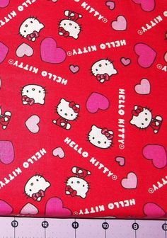 Love Hello Kitty Fabric By The Yard FBTY by CutiePieCraftSupply, $10.00