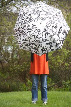 paint your old umbrella!