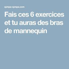 Fais ces 6exercices ettuauras des bras demannequin Yoga Fitness, Health Fitness, Gym Bra, Poses, Pilates, Exercise, Diet, Workout, Motivation