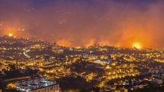 Madeira wildfires: Evacuations as flames approach Funchal - BBC News