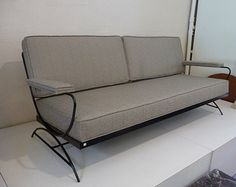 Patio Sofa Mid Century Modern Outdoor Patio Furniture Outdoor Couch Seating Wrought  Iron Chair