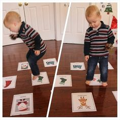 Toddler Approved!: 10 Simple Christmas Activities for Toddlers... Toss a soft ball at the pictures