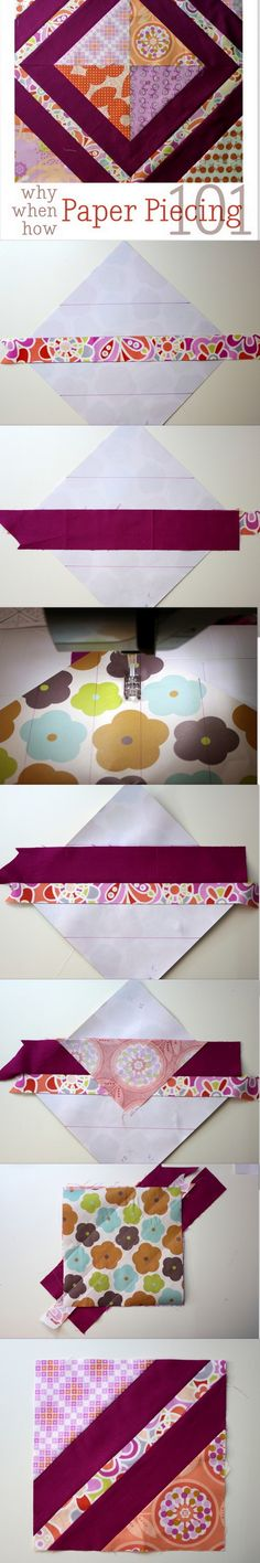 a paper piecing tutorial so easy to follow, I think I'll finally try it... @quilts @paperpiecing @vanillajoy