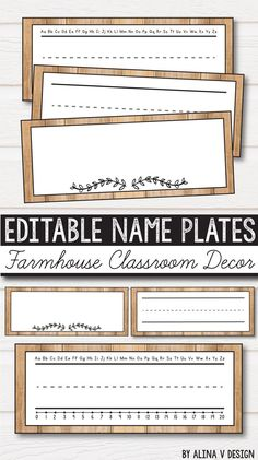 Free Classroom Decor, Freebie Name Plates farmhouse classroom decor – rustic classroom decor for kindergarten, elementary and middle classroom includes 23 sets of classroom decor labels in English that you can add to your vintage classroom. Classroom Decor Themes, New Classroom, Classroom Design, Preschool Classroom, Classroom Organization, In Kindergarten, Classroom Ideas, Vintage Classroom Decor, Classroom Labels Free