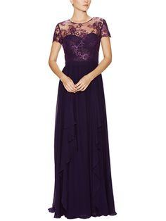 Metallic Lace Top Silk Gown from The Ultimate Dress Shop: Special Occasion Dresses on Gilt