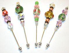 beaded stick pins