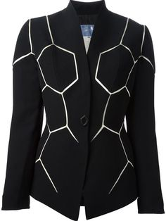 Shop Thierry Mugler Vintage hexagon-cut jacket in House of Liza from the world's best independent boutiques at farfetch.com. Shop 300 boutiques at one address.
