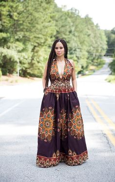 African Print Maxi Dress by MelangeMode on Etsy ~African fashion, Ankara… African Print Dresses, African Print Fashion, Africa Fashion, African Dress, Fashion Prints, African Prints, Men's Fashion, African Attire, African Wear