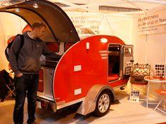 We trekked to the Motorhome and Caravan Show to marvel at pint-sized portable dwellings Teardrop Caravan, Insurance Quotes, Caravans, Camper Van, Motorhome, Recreational Vehicles, Rv, Mobile Home Insurance, Camper