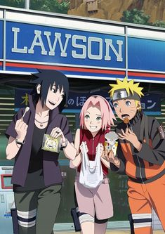 Naruto, Sakura, and Sasuke
