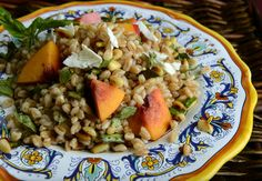 OMG delicious - and good for you.  Farro with Nectarines, Basil and Toasted Pine Nuts - San Jose Mercury News