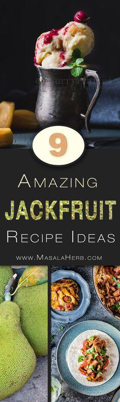 9 amazing Vegetarian Jackfruit Recipes & Ideas - Sweet & Savory Jackfruit Eats to discover! Indian Food Recipes, Vegetarian Recipes, Cooking Recipes, Healthy Recipes, Healthy Eats, Vegan Vegetarian, Free Recipes, Soup Recipes, Dinner Recipes