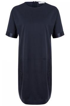 Fabiana Filippi Damen Jerseykleid Marineblau | SAILERstyle Pullover, Shirts, Mens Tops, Fashion, Knit Jacket, Gowns, Moda, Fashion Styles, Sweaters