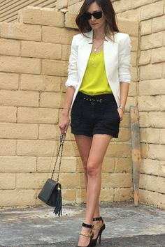 waiting for the perfect occasion to try the shorts and blazer. love the colors of this combo!