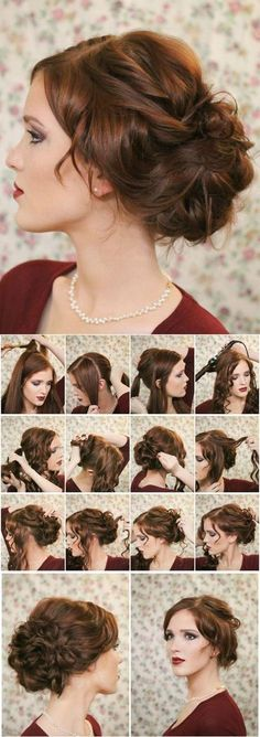 I love this hairstyle ,it is easy and make me charming,of course,  the best hair also need the best make up,choose the right make up is also a good way.