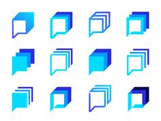 Logo concept variations for Botmatic