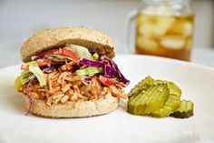 This BBQ jackfruit sammie is the vegan answer to pulled pork. Jackfruit soaks up the flavor of the BBQ, and the texture is so similar to pork, you will not miss the meat. Give this simple, easy recipe a try — the slaw is also to die for.