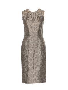 Burda seamed dress - same pattern as the long sleeved dress. Jacquard