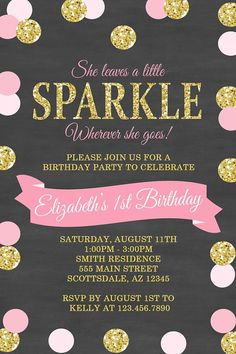 She Leaves A Little Sparkle Wherever She Goes by Honeyprint #GlitterBirthday