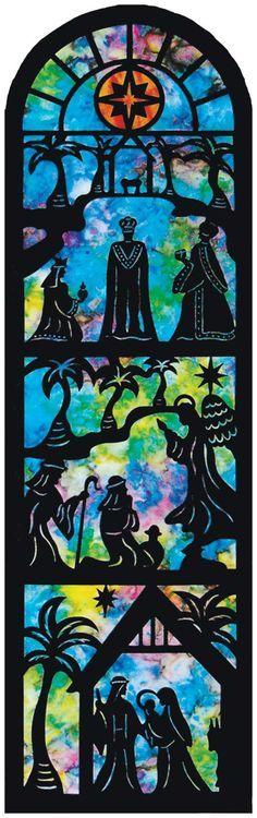 nativity silhouette on batik
