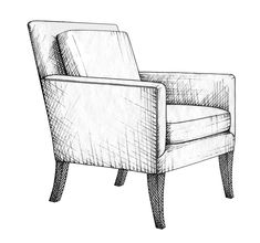 This chair drawing is definitely a very inspirational and top-notch idea Diy Furniture Renovation, Diy Furniture Cheap, Types Of Furniture, Furniture Legs, Furniture Design, Refurbished Furniture, Classic Furniture, White Furniture, Table Furniture