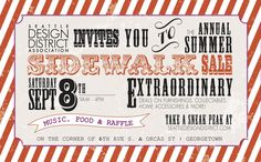 Seattle Design District Sidewalk Sale. Sept 8, 2012 9am-4pm