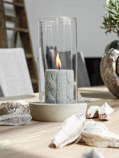 DIY | Windlicht aus Beton und Glas