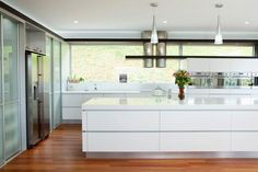 love the large long kitchen island with under storage