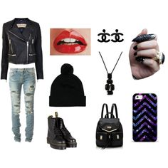 """rock style"" by eirinakilovatic1 on Polyvore"